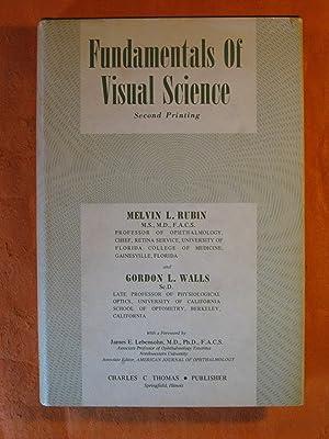 Fundamentals of Visual Science: Rubin, Melvin; Gordon