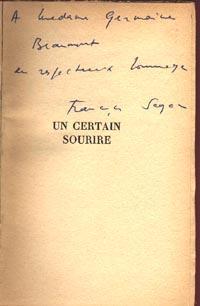 Un Certain Sourire: Sagan, Françoise [pseud
