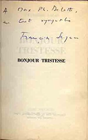 Bonjour Tristesse: Sagan, Francoise. [pseud.