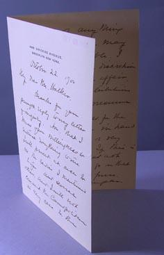Autograph Letter Signed in full on personal stationary addressed to Mr. Walker, editor with Cosmo...