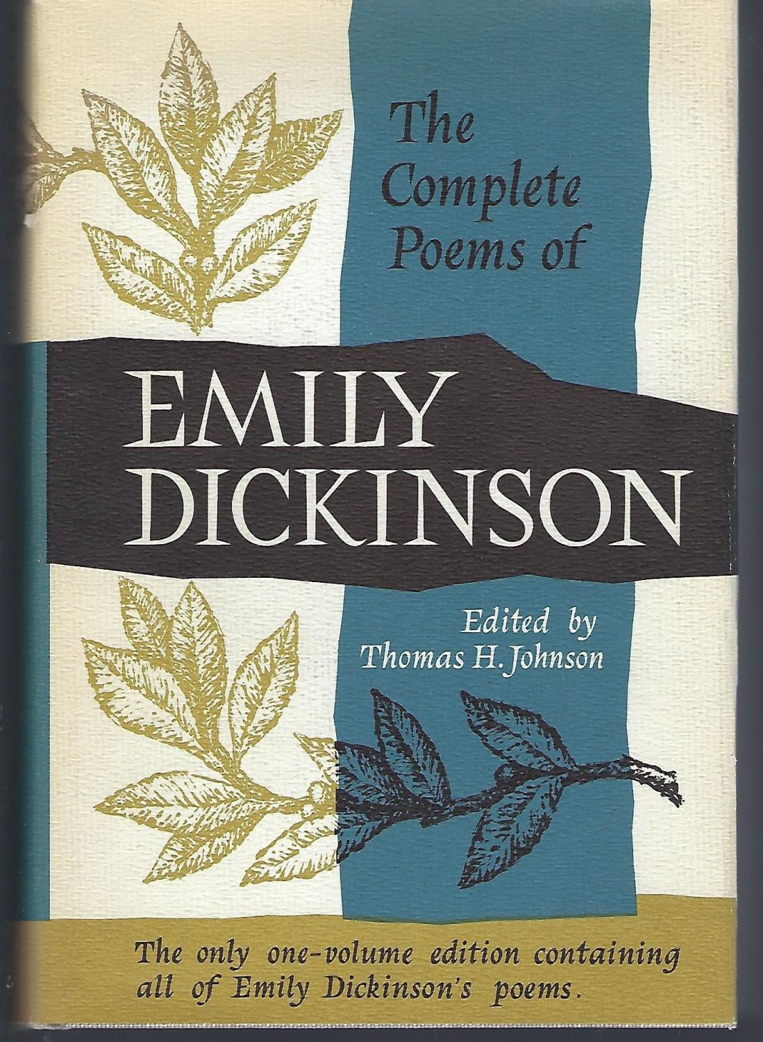 The Complete Poems Of Emily Dickinson De Dickinson Emily