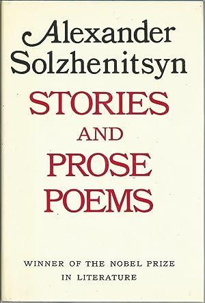 Stories and Prose Poems: Solzhenitsyn, Aleksander