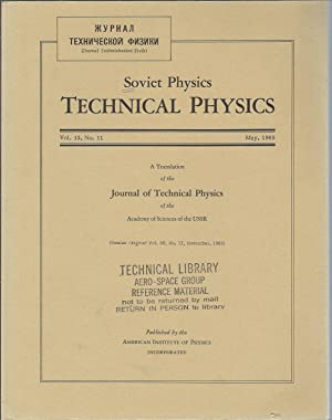 Soviet Physics Technical Physics Vol. 13, No. 11 May 1969: Koch, H. William