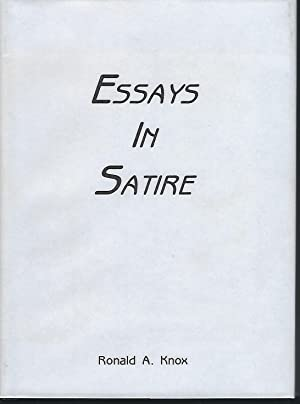 essays in satire by knox ronald abebooks essays in satire knox ronald a