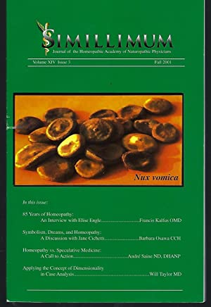 Simillimum: The Journal of the Homeopathic Academy of Naturopathic Physicians Volume XIV Issue 3 ...