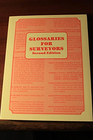 Glossaries for Surveyors Second Edition