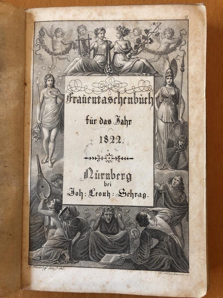 Frauentaschenbuch für das Jahr 1822.: Rückert, Friedrich (Hrsg.):