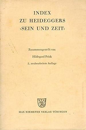 Index zu Heideggers Sein und Zeit: Heidegger, Martin und