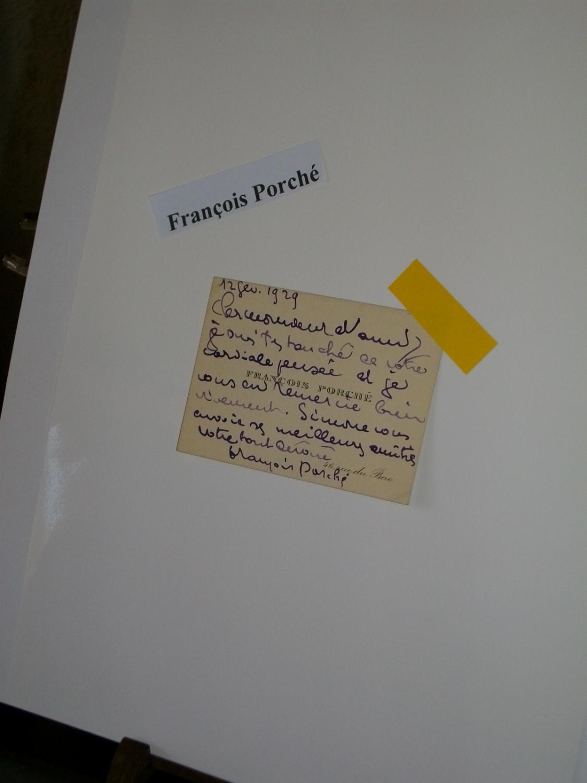 Lettre Manuscrite Sur Une Carte De Visite Adressee A LO DUCA 1929 Francois Porche