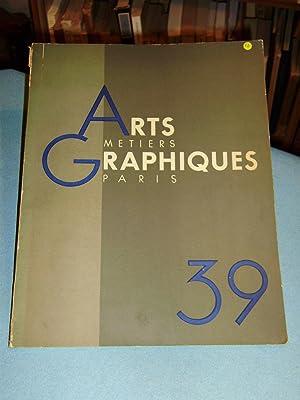 Arts et Métiers Graphiques N°39 /janvier 1934: Revue D'art et