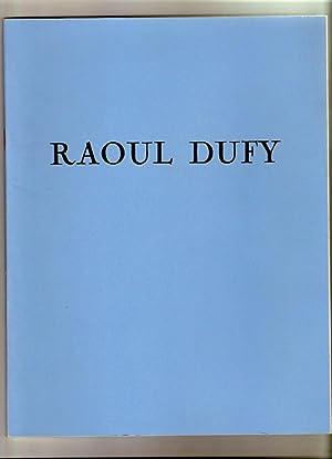 Raoul Dufy (1877-1953) Catalogue Exposition 1974 à: Musée National De