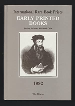Annual Register of Book Values - Early Printed Books 1992