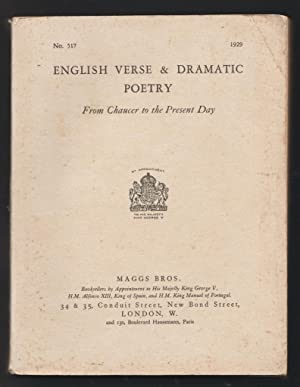 English Verse & Dramatic Poetry - From Chaucer to the Present Day
