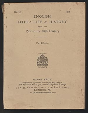 English Literature & History from the 15th to the 18th Century
