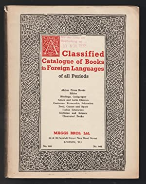 A Catalogue of Books in Foreign Languages of All Periods