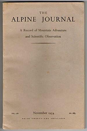 The Alpine Journal - November 1954 - [Vol.LIX - No.289]: F.H. Keenlyside [ed.]