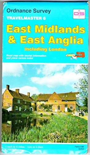 East Midlands & East Anglia including London - Ordnance Survey Travelmaster 6