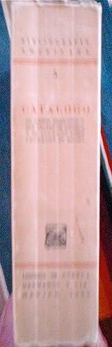 Bibliografia Americana Num. 5. Catalogo de Libros Mexicanos o que tratan de America y de algunos ...