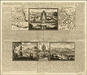 Engraving of] Description, Situation & Vue de la Ville de Mexique, des deux Lacs sur lesquels ...