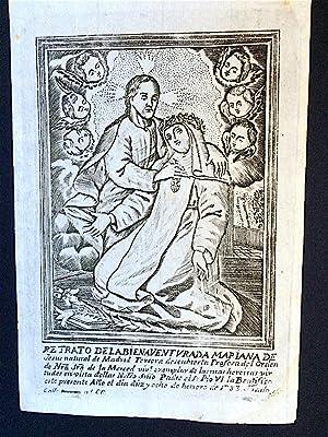 Image] Retrato de la Bienaventurada Mariana de Jesus natural de Madrid Tercera descubierta Profesa ...