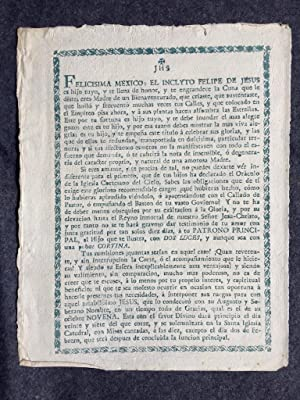 Broadside] Two elaborately printed notices for Novenas to San Felipe de Jesus of Mexico