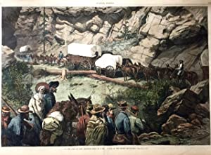 Print} On the Way to New Diggings - Halt in a Rough Pass of the Rocky Mountains: Franzeny and ...