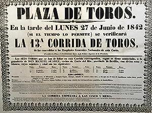 Poster] PLAZA DE TOROS en la tarde de lunes 27 de Junio de 1842.