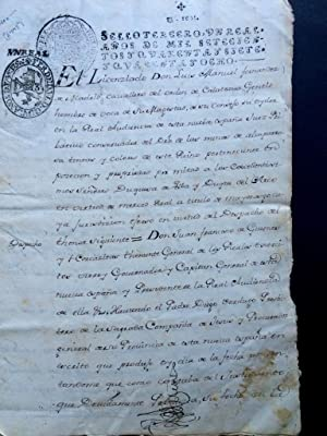 [Mexican legal document] El Licenziado Don Luis Manuel Fernandez de Madrid, Cavallero del orden d...