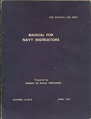 Manual For Navy Instructors NAVPERS 16103-B
