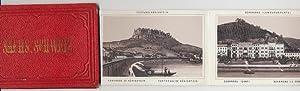 Sächsische Schweiz. Leporello m. 12 Ansichten in sepiafarbener Lithogr.