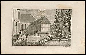 Präfectur. Museum zu Göttingen. [Platz vor der Alten Staatsbibliothek an der Leinebr&uuml...