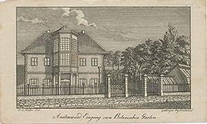 Anatomie und Eingang zum Botanischen Garten.: Grape, Heinrich: