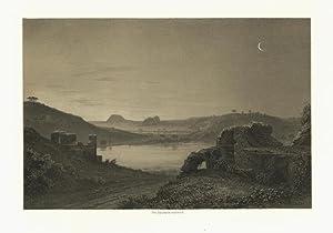Lac D`Averne. Averner See. Royaume De Naples.: Billmark, Carl Johan: