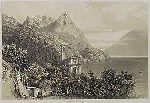 Albogasio. Lac de Lugane. Luganer See.: Billmark, Carl Johan: