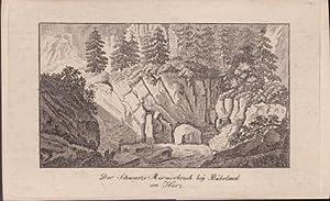 Der schwarze Marmorbruch bei Rübeland am Harz.: Grape, Heinrich: