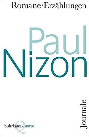 Romane, Erzählungen, Journale.: Nizon, Paul: