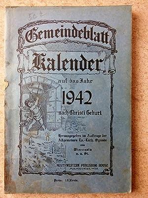 Gemeindeblatt Kalender auf das jahr 1942 nach