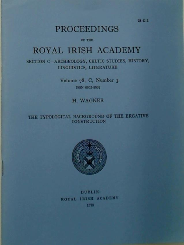 The Typological Background of the Ergative Construction.: Wagner, H