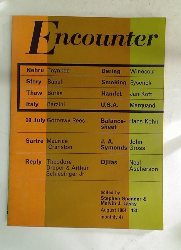 The Verdict on Smoking. (Encounter, August 1964,: Eysenck, H J