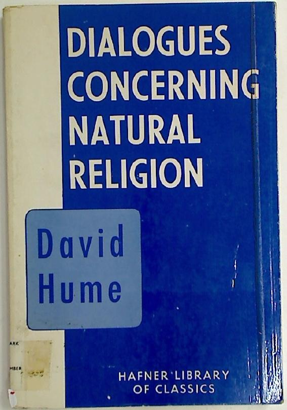 Dialogues Concerning Natural Religion.: Hume, David