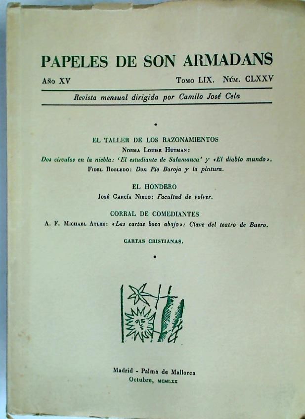 Papeles de Son Armadans. Vol 49, Number: Cela, Camilo Jose