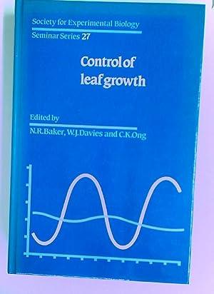 Control of Leaf Growth.: Baker, N R [Ed]