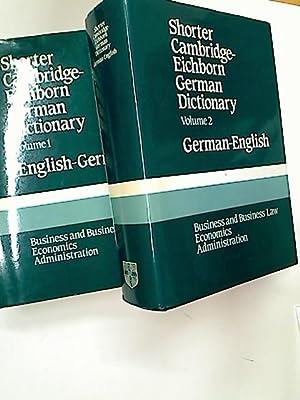 Shorter Cambridge-Eichborn German Dictionary. Business and Business: von Eichborn, Reinhart