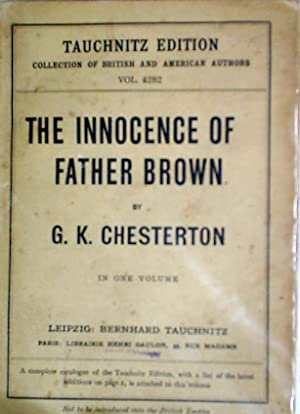 The Innocence of Father Brown.: Chesterton, G K