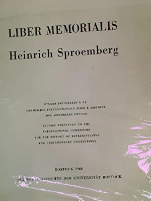 Liber Memorialis Heinrich Sproemberg.