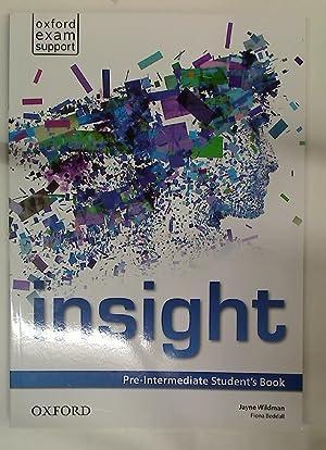 Insight. Pre-Intermediate Student's Book.: Wildman, Jayne