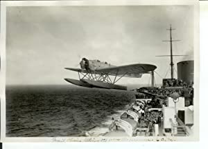 Photo Showing the Heinkel HE 112 (registration D-1717) Seaplane Being Catapulted from the Deck of ...