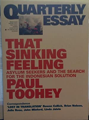That Sinking Feeling: Quarterly Essay - Assylum: Toohey, Paul