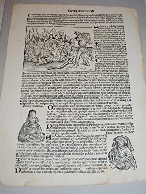 Liber Chronicarum. Nuremberg Chronicle. Single Leaf. Folio: Schedel, Hartmann.