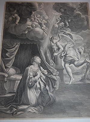 The Annunciation.: Bloemaert, Cornelis after